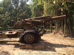 Artillery on display, War Museum, Siem Reap, Cambodia. www.antonswanepoelbooks.com