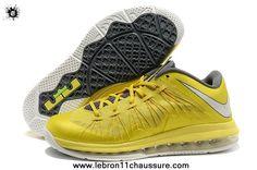 new concept b459e 4195a Sonic Jaune   Sail - Cool Gris - Tour Jaune Nike Air Max LeBron 10 Low