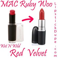 MAC Ruby Woo dupe Stoplight Red copy