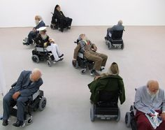 """Sun Yuan and Peng Yu's """"Old People's Home"""" installation."""