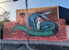 """Lilith"", Street Art by Alexis Diaz in Wynwood, Miami. #StreetArt #Graffiti #Mural #Miami #USA"