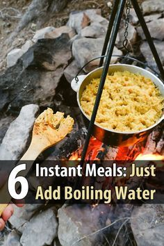 These 6 instant meals-on-the-go are delicious, and all you need is some boiling water. Great for backpacking, lunch at the office, or emergencies.