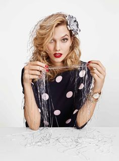 Karlie Kloss is back for the holiday 2015 campaign from Kate Spade, photographed by Emma Summerton in New York.