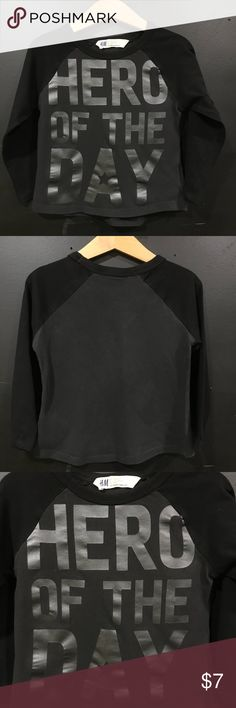 18M/2y Boys H&M Black Shirt Gently used and in great condition Shirts & Tops Tees - Long Sleeve