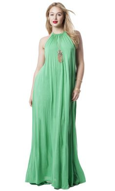 Gathered Halter Maxi Dress
