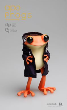 apo frogs : version raincoat by Hyunseung Rim, via Behance nice figurine for the cave Character Modeling, 3d Character, Character Concept, Character Design, Vinyl Toys, Vinyl Art, Art Jouet, Cute Frogs, 3d Prints