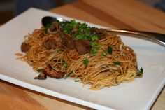 take out fake out - hong kong pan fried noodles with veggies and meat of your choice