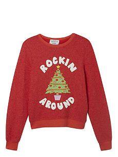 WILDFOX Rockin Around Christmas jumper 7-14 years