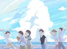 夏の松 海沿い