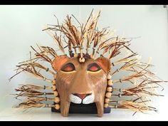 How to Make a Simba Mask out of Paper Maché