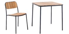 Verso chair and table in wood : MARK Product
