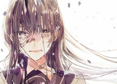 Anime, manga, and video game fan-art artworks from Pixiv (ピクシブ) — a Japanese online community for artists. pixiv - It's fun drawing! Anime Girl Crying, Sad Anime Girl, Kawaii Anime Girl, Manga Girl, Anime Art Girl, Crying Girl Drawing, Anime Girls, Anime Oc, Manga Anime