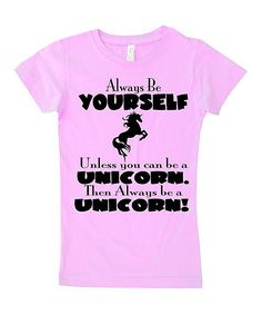 Light Pink 'Be a Unicorn' Fitted Tee - Infant Toddler & Girls