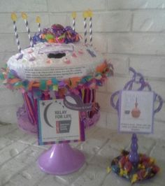ACS | Relay for Life donation bucket display for our 2013 fundraiser at work. Once again, thank you Pinterest for another successful project <3