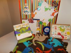 Dinosaur theme Gift Set for Little Boy Happy by CathysCraftWorld