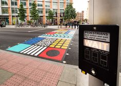 Camille Walala was tasked with reimagining the everyday experience of crossing the road by Better Bankside and Transport for London.