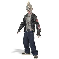 Punk Zombie Child Costume from Buycostumes.com @buycostumes #OrangeTuesday #ad