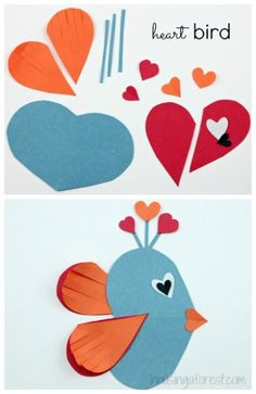 Adorable Heart Shaped Animal ideas ~ simple Valentine craft ideas for . Valentines Day Party, Valentines For Kids, Valentine Day Crafts, Holiday Crafts, Printable Valentine, Homemade Valentines, Valentine Wreath, Valentine Ideas, Valentine Heart