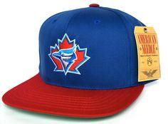 6bf8771b1be TORONTO BLUE JAYS Retro Old School Snapback Hat - MLB Cap - Original TAG -  2 Tone Blue Red