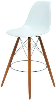 Counter Stool in White