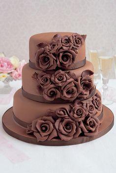 chocolate wedding cake by sharlene