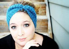 Fairy Tale Winter Headband in Peacock Blue