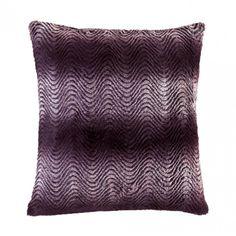 Accent Plus Orchid Ombre Fur Pillow