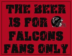 Atlanta Falcons Fan Sign - Man Cave Sign