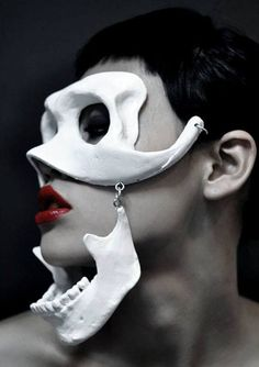 macabre party mask for halloween skull couture Exclusive Tableaux Vivants, Skull Mask, Skeleton Mask, Oni Mask, Skeleton Bones, Skull Scarf, Leather Mask, Cosplay, Masquerade Ball