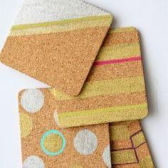 Coasters modernos de blocos de cores