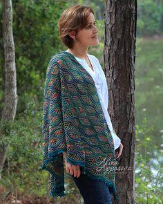 Ravelry: Gardens of Giverny Shawl pattern by Alina Appasova Lace Knitting Patterns, Shawl Patterns, Hand Knitting, Crochet Coat, Crochet Shawl, Crochet Clothes, Malabrigo Sock, Knitted Shawls, Shawls And Wraps
