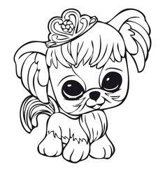 Desenhos para pintar Littlest pet shop 8