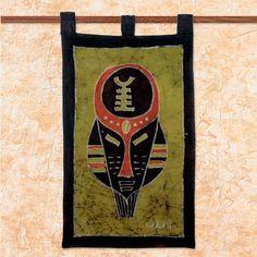 Novica Handcrafted Batik 'Battle Cry' Wall Hanging