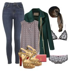 """Day in France"" by medicicapetiens ❤ liked on Polyvore featuring Topshop, H&M, Yves Saint Laurent and Christian Louboutin"
