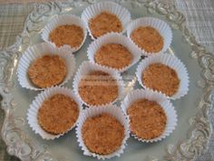 This Peanutty Coconut Candy is a throw-back to my childhood, when there were still candy counters at places like Sears, Pennys and Montgomery Wards. Those little crunchy, peanutty logs that were covered with toasted coconut were a favorite of mine. This is my low-carb version, it's just not crunchy. I forewarn you, these can be addictive. ~ Peggy