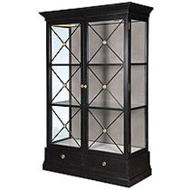Black Display Unit with Glass panels