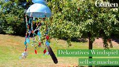 Windspiel mit Glasperlen selber machen Do you like to make your own decoration? Then this wind chime Diy Garden Decor, Garden Art, Diy Projects For Beginners, Diy Store, Diy Home Decor Bedroom, Fun Hobbies, Diy Videos, Hacks Videos, Oeuvre D'art