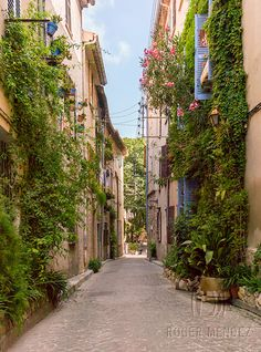 Historic streets of Antibes - southern France