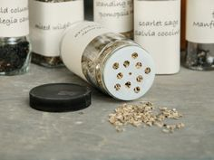 Use spice jars for seed storage >> http://www.diynetwork.com/how-to/outdoors/gardening/how-to-harvest-seeds?soc=pinterest