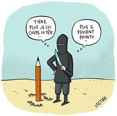 """#cartoon #CharlieHebdo #JeSuisCharlie (en Français)"""