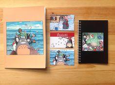 Quaderni e biglietti d'auguri fan art Ghibli di IsolaSospesa