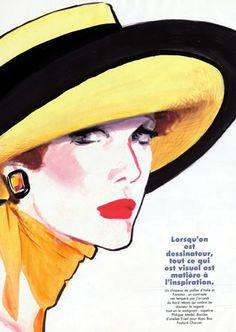 René Gruau 1986 ''Les chapeaux signés Gruau''