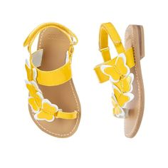 8619dd4ff8f74 Toddler Girls Sunshine Yellow Butterfly Sandal by Gymboree Toddler Shoes