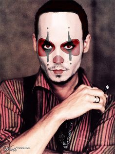Evil Celebrity Clowns - Worth1000 Contests.  Johnny Depp