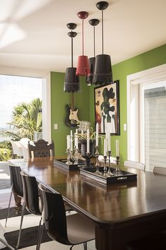 Dining room #dining room #lighting #DIYlighting #stripedrug #eclectic #AAHouseCrush