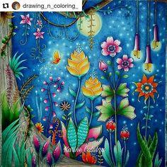 "408 Likes, 5 Comments - Desenhos Colorir (@desenhoscolorir) on Instagram: ""Perfeito! #Repost @drawing_n_coloring_ with @repostapp #selvamagica  #magicaljunglebooks…"""