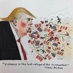 Political Satire, Political Cartoons, Trump Cartoons, Isaac Asimov, Rosie The Riveter, Harry Potter Facts, Voldemort, Bad News, Humor