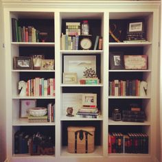 How I decorated my bookshelves.