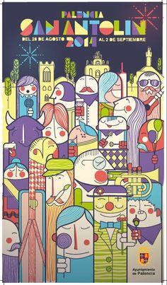 cartel fiestas palencia 2015 - Buscar con Google