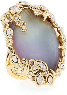 Alexis Bittar Crystal Lace Lucite Cocktail Ring on shopstyle.com